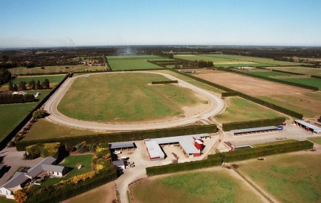 An aerial view of Kentuckiana Lodge